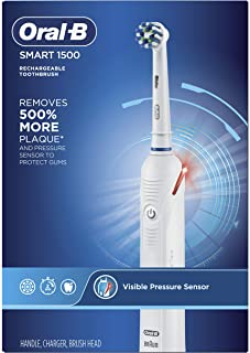 Oral-B Smart 1500 Electric Toothbrush, White (Packaging May Vary )