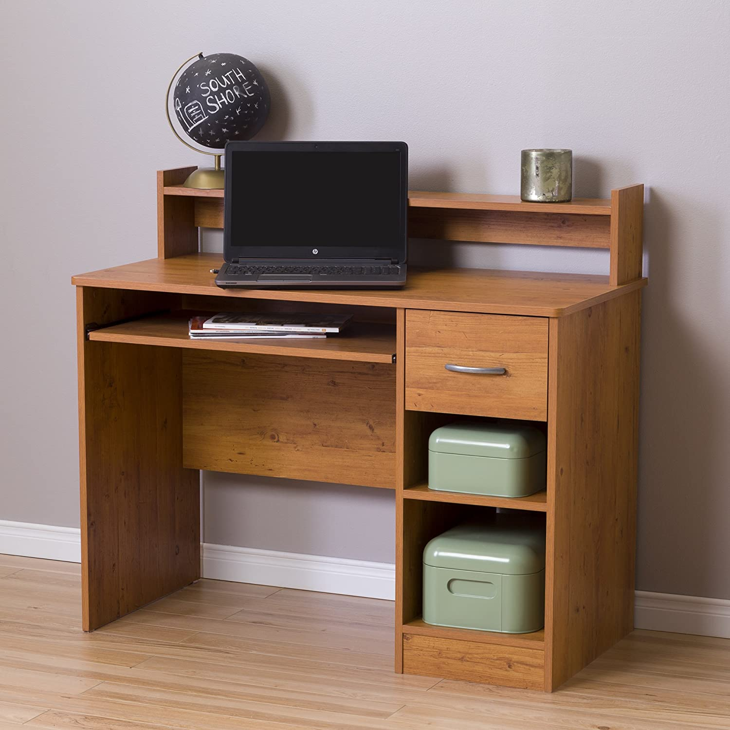 South Shore Axess Desk, Country Pine