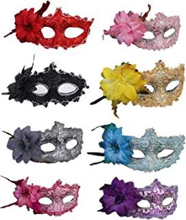 masquerade mask with flowers
