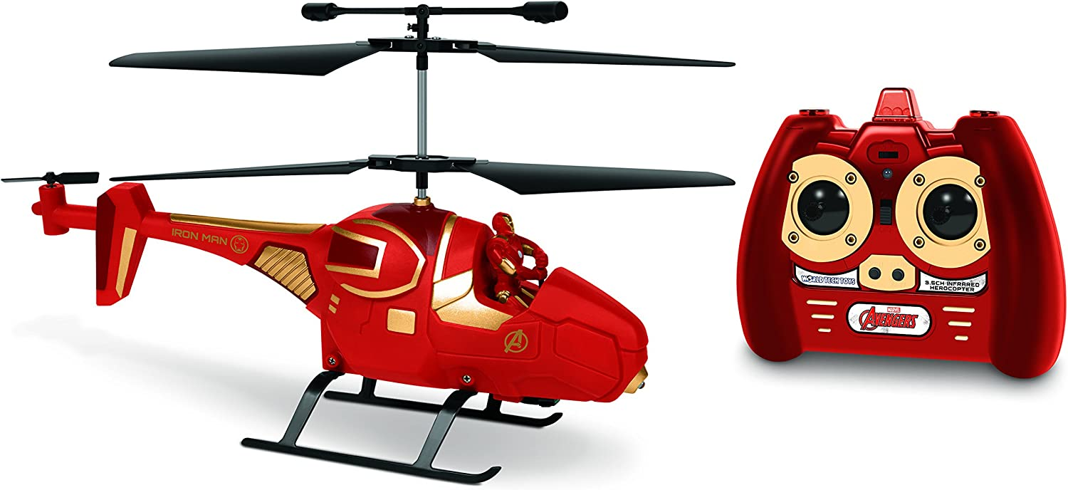 Avengers Marvel Iron Man 8 x 3 x 19 5 Red, Helicopter, RC