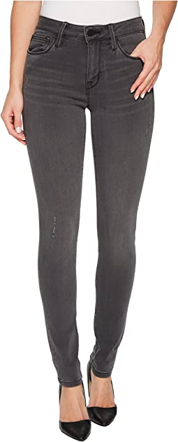 Sanctuary - Saige Curvy Skinny Pants w/ Black Rose Embroidery