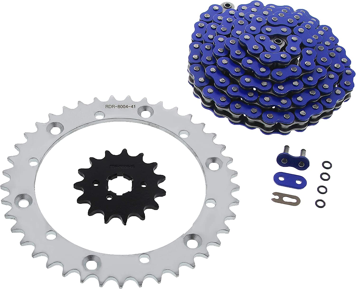 Blue O-Ring Chain free shipping Silver Sprocket 15 41 102L 2001-2004 Excellence fits fi