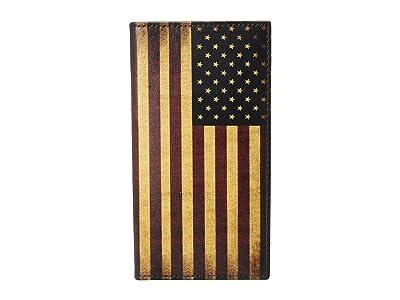 M&F Western Vintage USA Flag Rodeo Wallet (Multi) Wallet Handbags