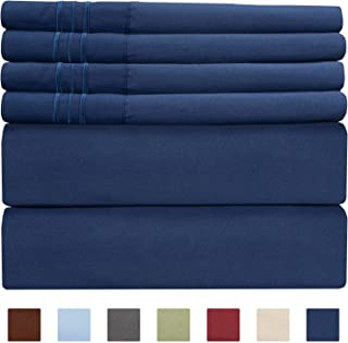 Extra Deep Pocket Sheets - Deep Pocket King Size Sheets - Extra Deep Bed Sheets - Deep King Fitted Sheet Set - Super and Ultra Deep Sheets - Deep Pocket Sheets fit 18 Inch to 24 Inches Deep Bed Sheets