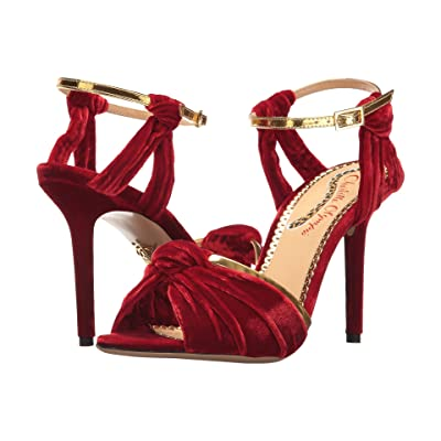 Charlotte Olympia Broadway 95 (Red Velvet) High Heels