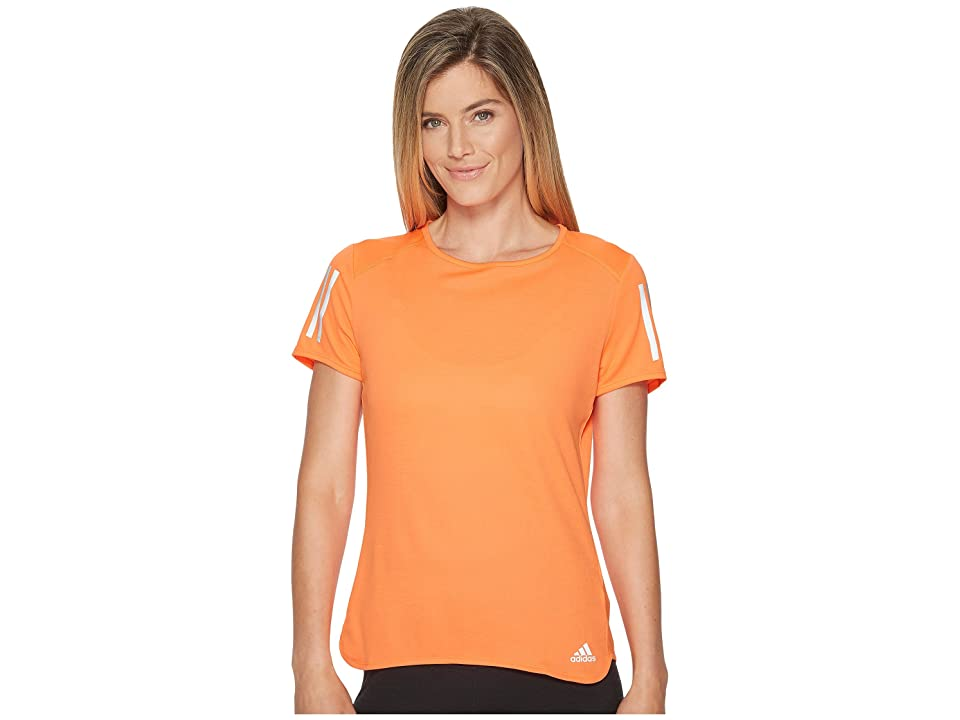 adidas Response Short Sleeve Tee (High-Res Orange) Women