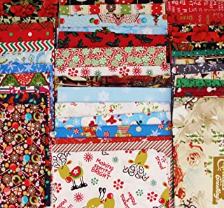 20 Christmas Winter Theme FAT QUARTERS Mix 100% Cotton ~ Quilt Fabric ~ Crafts ~ Sewing ~ Assorted Colors
