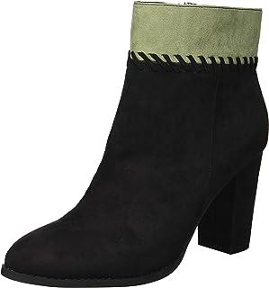 Athena Alexander Women's NANTES Ankle Boot, BLACK SUEDE, 7.5 M US