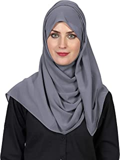 World of Scarfs Soft Chiffon Hijab Scarves Shawls Wraps for Wedding Evening Party Special Occasions Big Size 85 x 180 Cms