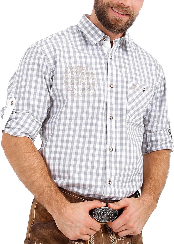 wei/ß Modell: Benji Kr/üger Herren Trachten Hemden lang 096116-0-0108 Art.-Nr Langarm
