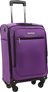 """Travelers Club 20"""" Smart Spinner Carry-On Luggage with USB Charging Port"""