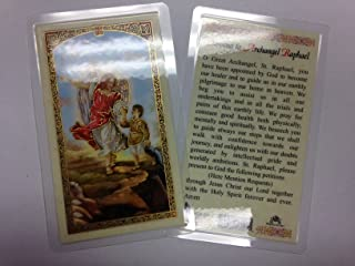 Holy Prayer Cards For the Prayer to The Archangel Raphael in English
