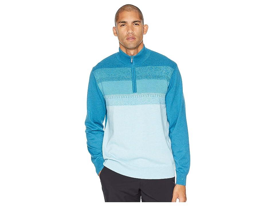 Callaway Ombre Heather Jacquard 1/4 Zip Sweater (Navagio Bay Heather) Men