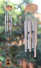 Paradigm Pictures Pipe Fengshui Wind Chimes for Home Positive Energy with Good Sound Pipes (Silver, 7 Pipe (Medium Wind Chime))
