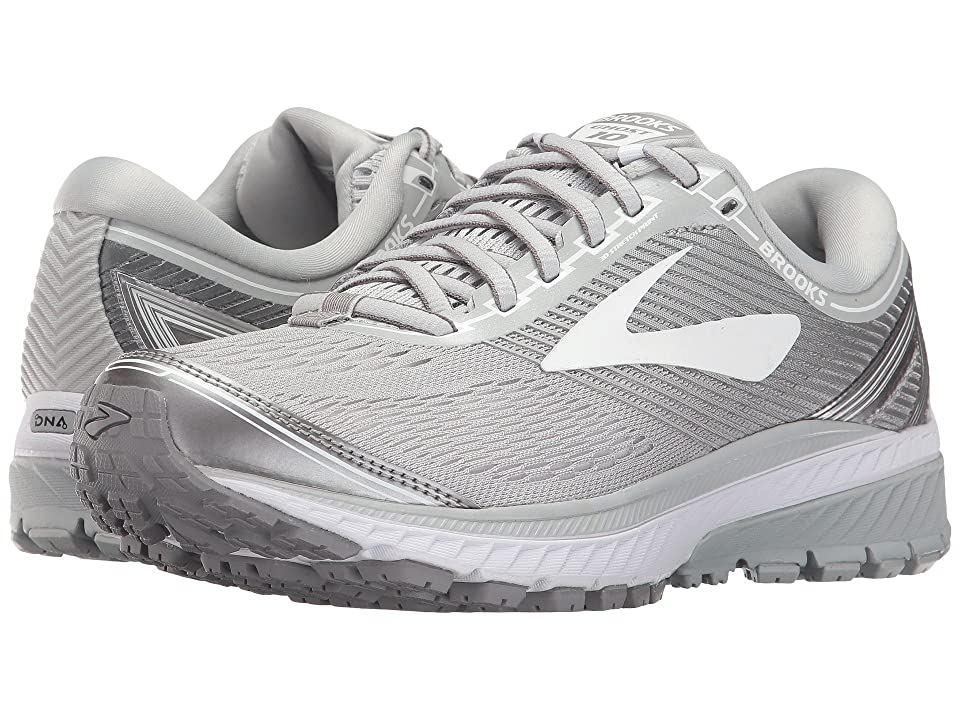 97a4f51bbab37 Brooks Ghost 10 (Microchip White Metallic Charcoal) Women s Running Shoes