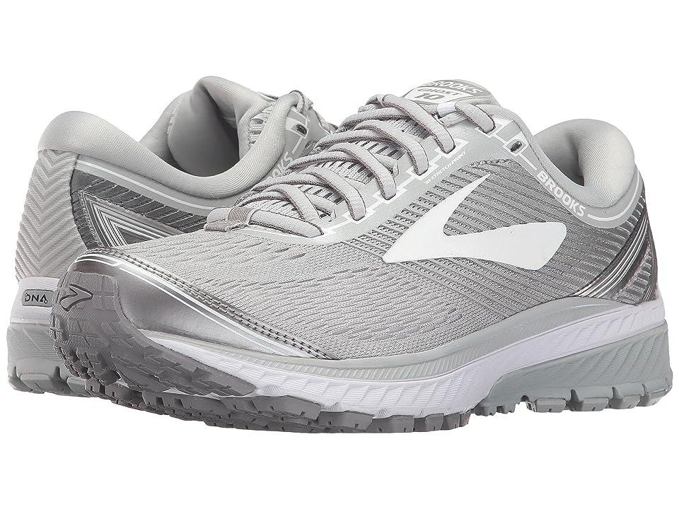 72d2a87eba9 Brooks Ghost 10 (Microchip White Metallic Charcoal) Women s Running Shoes