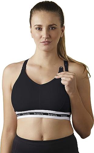 lowest BRAVADO! DESIGNS Original Full Cup lowest Nursing Bra outlet online sale in Cotton-Modal | Black | S outlet sale