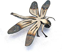 Metal dragonfly sculpture - Outdoor insect art - Bug sculpture - Dragonfly deck decor - Wall hanging dragonfly - Insect bug art