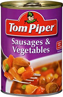 Tom Piper Sausages and Vegetables Canned Meal, 400g