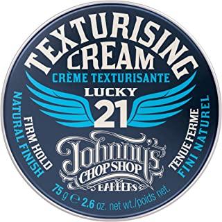 Johnny's Chop Shop Men's Hair Texturising Cream Firm Hold, Lightweight, Natural Finish 2.6 oz (Pack of 1)