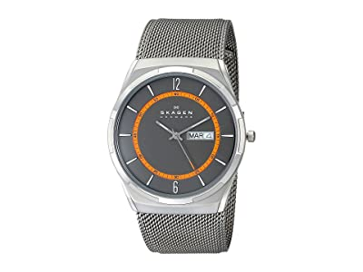 Skagen Melbye Three-Hand Watch (SKW6007 Titanium Gray Stainless Steel Mesh) Analog Watches