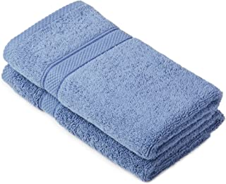 (Wedgewood) - Pinzon by Amazon - Egyptian Cotton Towel Set, 2 Hand Towels - Wedgewood Blue, 600gsm