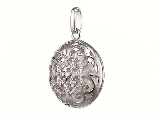 Engelsrufer paradis pendentif en argent 925-Sterling avec carillon blanc nacr/é taille 18 mm