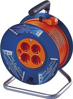 EMOS DG-4ZR-DB04 Profi-Kabeltrommel, 25m Kabel mit 4 Steckdosen, 1,5 mm Schuko, IP20, Robuster, hochbruchfester Spezialkunststoff
