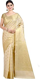 Chandrakala's Women's Cotton Silk Blend Indian Ethnic Banarasi Saree with unstitched Blousepiece(1105)