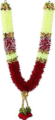 Daedal crafters Artificial Bridal Garlands (Maroon)