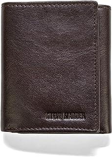 steve madden Men's Leather Trifold Wallet