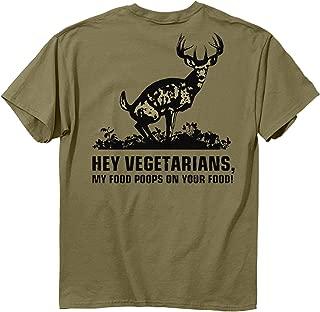 Buck Wear Food Poops Short Sleeve Tee, Prairie Dust
