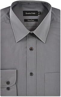 Men's Blue Classic Cotton Blend Long Sleeve Shirt