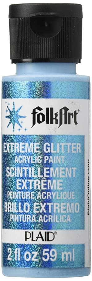 FolkArt Extreme Glitter Acrylic Paint in Assorted Colors (2 oz), 2790, Turquoise