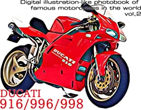 DUCATI 916 996 998 - Digital illustration-like photobook of famous motorcycles in the world vol,2
