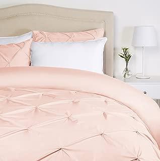 Pinzon Pinch-Pleat Duvet Cover Set, Twin, Blush Pink