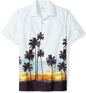 28 Palms Men's Standard-Fit 100% Cotton Tropical Hawaiian Shirt