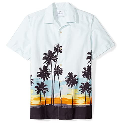5eb895fe Amazon Brand - 28 Palms Men's Standard-Fit 100% Cotton Tropical Hawaiian  Shirt