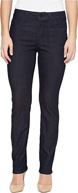 NYDJ Petite Petite Size Sheri Slim Leg Denim in Dark Enzyme
