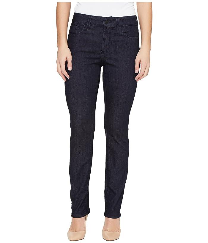 NYDJ Petite Petite Size Sheri Slim Leg Denim in Dark Enzyme (Dark Enzyme) Women's Jeans