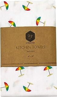 Dish Cloth | Tea Towels | Kitchen Towels | Flour Sack Towels | Set of 4 | 45 x 71 cm / 18 x 28 in | 100% Cotton, Reusable,...