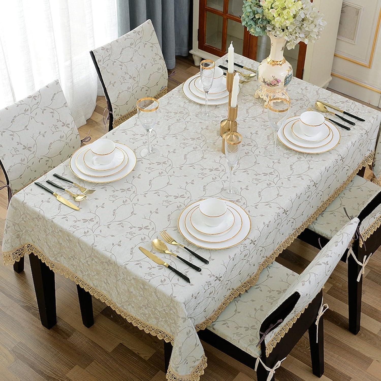 Tischtuch Tischdecke Stoff Tee Tischdecke Tuch rechteckige Tischdecke blau Home Decor Tisch Western Restaurant (Farbe   Beige, gre   140  160cm)