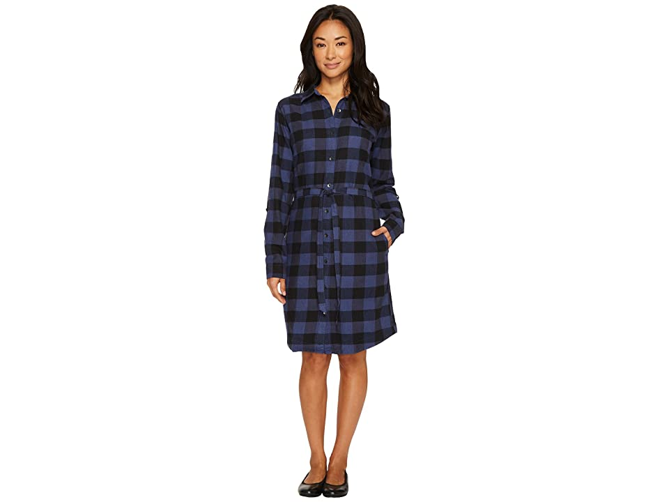 Royal Robbins Jackson Plaid Dress (Blue Indigo) Women