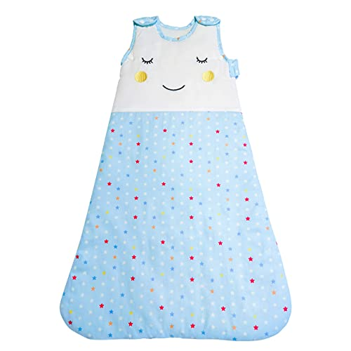 Stewys Baby Sleeping Bag 2.5 tog Comfortable Unisex Swaddle Sleep Sack  starry blue 100% Cotton 455a72a95
