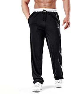 Sponsored Ad - KouKou Men's Sweatpants Open Bottom Athletic Running Jogging Zipper Pockets