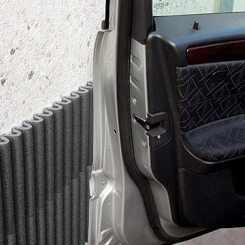 Plaques à Pare-Chocs Muraux Mondaplen: Plaques en Mousse Autoadhésives pour protéger les portières de voiture en les appliquant aux murs de votre garage. Chaque boîte contient 4 plaques environ 44 x 59 cm chacune ( Argent)