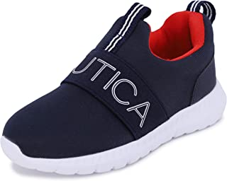 Nautica Kids Boys Fashion Sneaker Slip-On Athletic Running Shoe for Toddler and Little Kids-Canvey Toddler Outline Logo-Na...