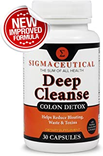 Colon Cleanse - Detox Cleanse - Bowel Cleanse & Laxative - Weight Loss & Increased Energy - Colon Cleanser - 30 Capsules