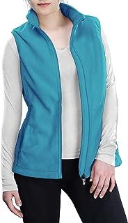Women's Polar Fleece Zip Vest Outerwear with Pockets,Warm Sleeveless Coat Vest for Fall & Winter