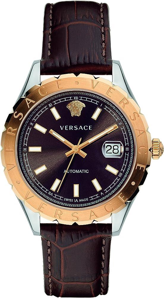 Versus versace , orologio da donna, automatico, cassa in acciaio e cinturino in vera pelle VZI020017
